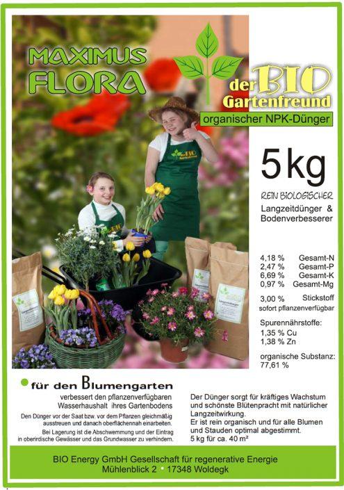 Produkte - Bio Dünger Blumen Maximus Flora