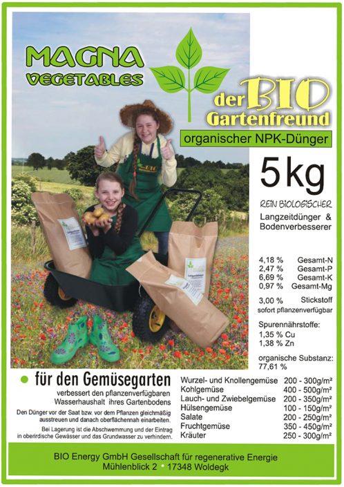 Produkte - Bio Dünger Gemüse Magna Vegetables