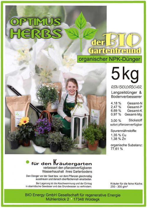 Produkte - Bio Dünger Kräuter Optimus Herbs
