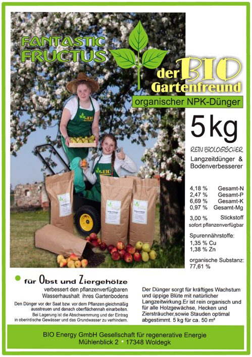 Produkte - Bio Dünger Obst Fantastic Fructus