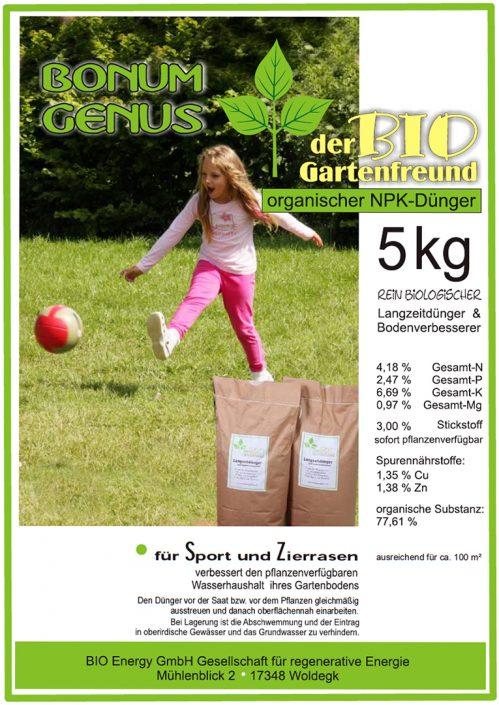 Produkte - Bio Dünger Rasen Bonum Genus